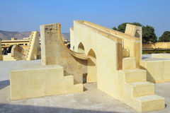 Old astrology observatory in Jaipur India royalty free stock photo