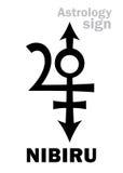 Astrology: Orphan planet NIBIRU Stock Photo