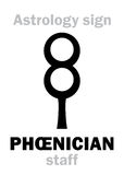 Astrology: PHŒNICIAN staff Royalty Free Stock Photography