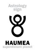 Astrology: planet HAUMEA Stock Photography