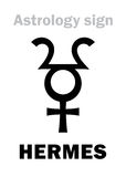 Astrology: planet HERMES Stock Photo