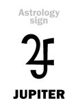 Astrology: planet JUPITER Stock Photography