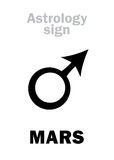 Astrology: planet MARS Stock Photography