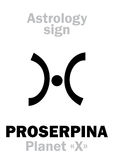 Astrology: planet PROSERPINE Royalty Free Stock Image