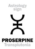 Astrology: planet PROSERPINE Royalty Free Stock Image