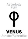 Astrology: planet VENUS Royalty Free Stock Photo