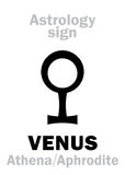 Astrology: planet VENUS Stock Photos