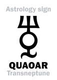 Astrology: planetoid QUAOAR Royalty Free Stock Photography