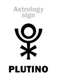 Astrology: PLUTINO (little planet) Royalty Free Stock Photography