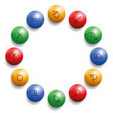 Astrology Radix Symbols Circle Balls Royalty Free Stock Images