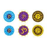 Astrology. Set of astrological birth charts Stock Image