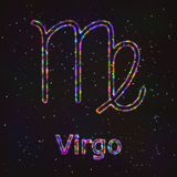Astrology Shining Symbol. Zodiac Virgo. Royalty Free Stock Photo