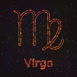 Astrology Shining Symbol. Zodiac Virgo. Royalty Free Stock Image