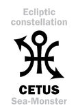 Astrology: Sign of constellation CETUS (The Sea-Monster) Stock Images