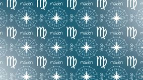 Astrology sign Maiden. stock footage