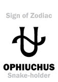 Astrology: Sign Of Zodiac OPHIUCHUS (The Snake-holder) Royalty Free Stock Photos