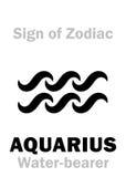 Astrology: Sign of Zodiac AQUARIUS The Water-bearer Stock Image