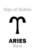 Astrology: Sign of Zodiac ARIES (The Ram) Stock Photo
