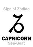 Astrology: Sign of Zodiac CAPRICORNUS (The Mer-Goat) Stock Photo