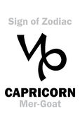Astrology: Sign of Zodiac CAPRICORNUS (The Mer-Goat) Royalty Free Stock Photography