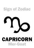Astrology: Sign of Zodiac CAPRICORNUS (The Mer-Goat) Stock Image
