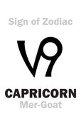 Astrology: Sign of Zodiac CAPRICORNUS (The Mer-Goat) Stock Photography