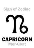 Astrology: Sign of Zodiac CAPRICORNUS (The Mer-Goat) Stock Image