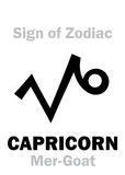 Astrology: Sign of Zodiac CAPRICORNUS (The Mer-Goat) Royalty Free Stock Images
