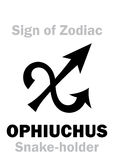 Astrology: Sign of Zodiac OPHIUCHUS (The Snake-holder) Royalty Free Stock Photo