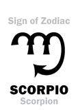 Astrology: Sign of Zodiac SCORPIO (The Scorpion) Royalty Free Stock Photos