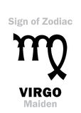 Astrology: Sign of Zodiac VIRGO (The Maiden) Stock Images