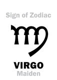 Astrology: Sign of Zodiac VIRGO (The Maiden) Royalty Free Stock Image
