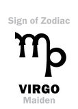 Astrology: Sign of Zodiac VIRGO (The Maiden) Royalty Free Stock Photo