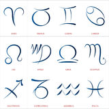 Astrology Signs Calligraphy Stock Image