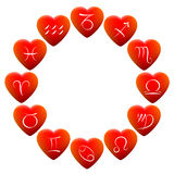Astrology Signs Hearts Royalty Free Stock Photography