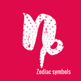 Astrology Signs of the zodiac Capricorn. Signs of the zodiac. Capricorn symbol calligraphy. Fashion illustration style. Vector illustration white isolated on a Royalty Free Stock Photography