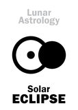 Astrology: Solar ECLIPSE Royalty Free Stock Photo