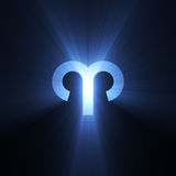 Astrology symbol Aries moon light halo Royalty Free Stock Photography