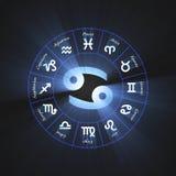 Astrology symbol Cancer light flare Royalty Free Stock Photos