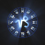 Astrology symbol Capricorn light flare Stock Photography