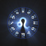 Astrology symbol Leo flare Stock Photo
