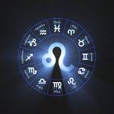 Astrology symbol Leo light flare Stock Photo