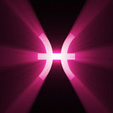 Astrology symbol Pisces light flare Stock Image