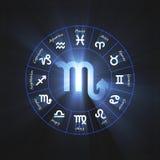 Astrology symbol Scorpio light flare Royalty Free Stock Image