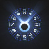 Astrology symbol Taurus light flare Stock Photography
