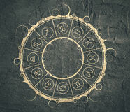 Astrology symbols in circle Royalty Free Stock Photos