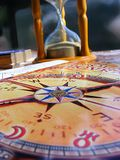 Astrology table with natal chart, Serbia, April 2018 royalty free stock photo