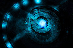 Astrology universe concept. Astrology zodiac signs on the star sky background royalty free stock photography