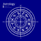 Astrology vector background Stock Photography