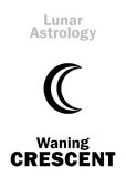 Astrology: Waning CRESCENT (MOON) Stock Image